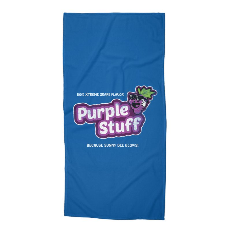 Purple Stuff Accessories Beach Towel by Made With Awesome