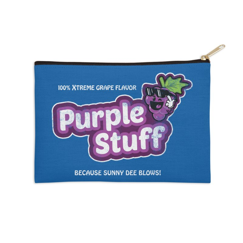 Purple Stuff Accessories Zip Pouch by Made With Awesome