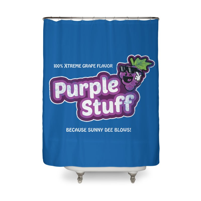 Purple Stuff Home Shower Curtain by Made With Awesome