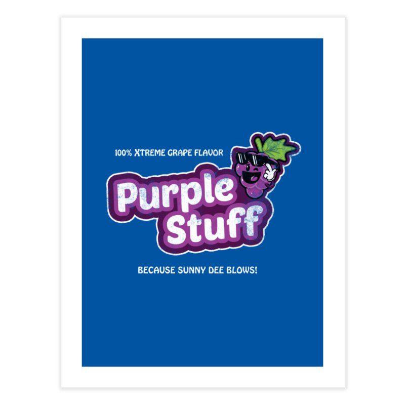 Purple Stuff Home Fine Art Print by Made With Awesome