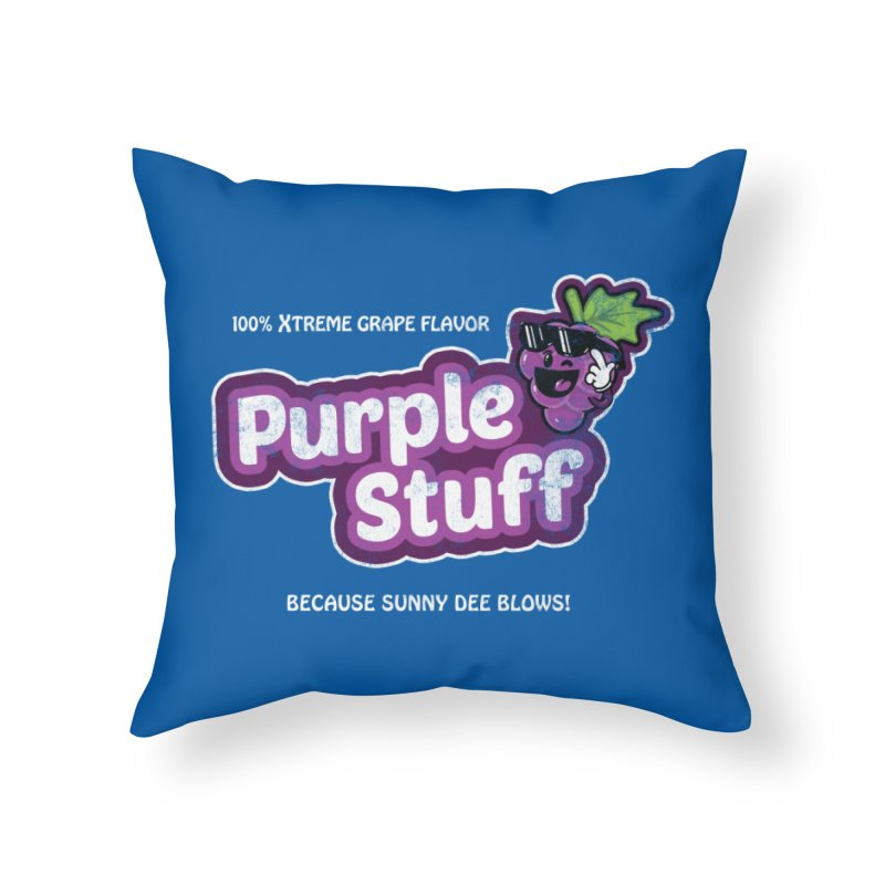 Purple Stuff Home Throw Pillow by Made With Awesome