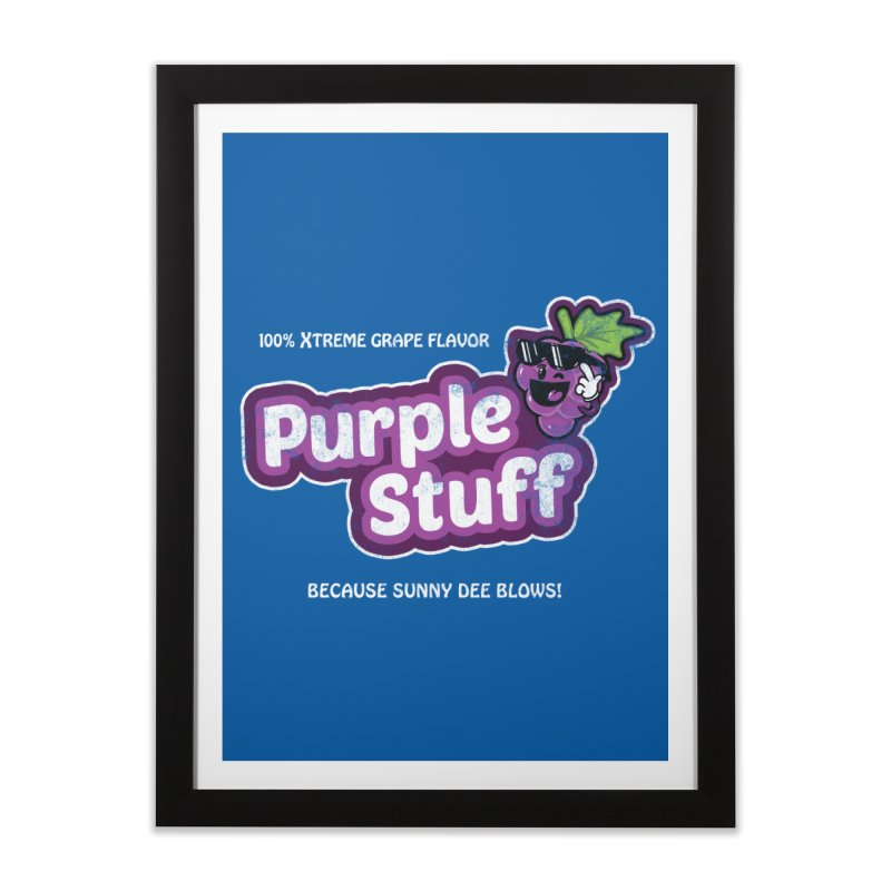 Purple Stuff Home Framed Fine Art Print by Made With Awesome