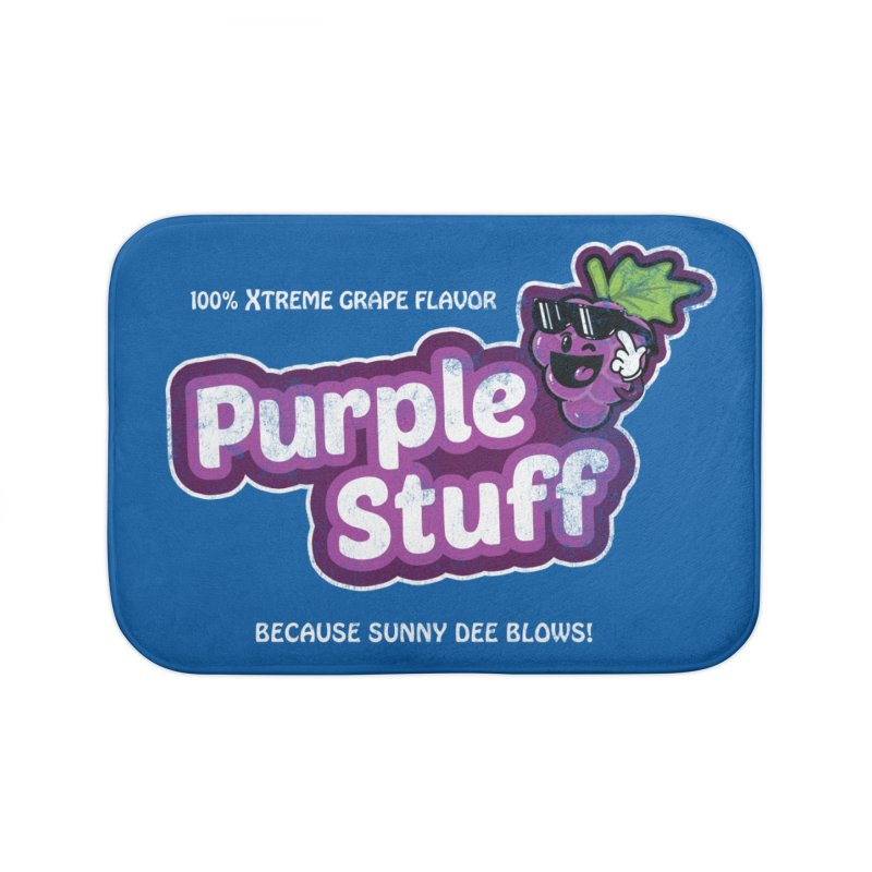 Purple Stuff Home Bath Mat by Made With Awesome