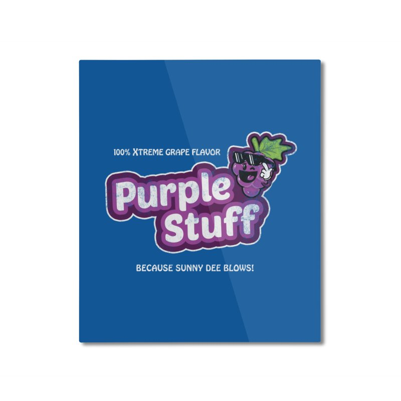 Purple Stuff Home Mounted Aluminum Print by Made With Awesome
