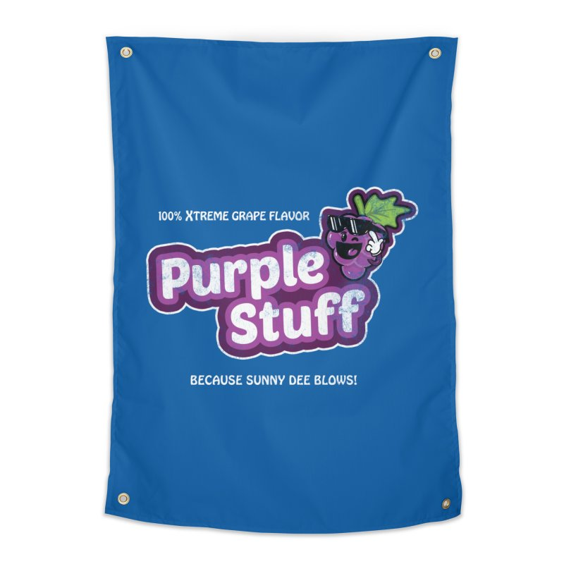 Purple Stuff Home Tapestry by Made With Awesome