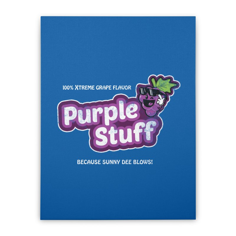 Purple Stuff Home Stretched Canvas by Made With Awesome