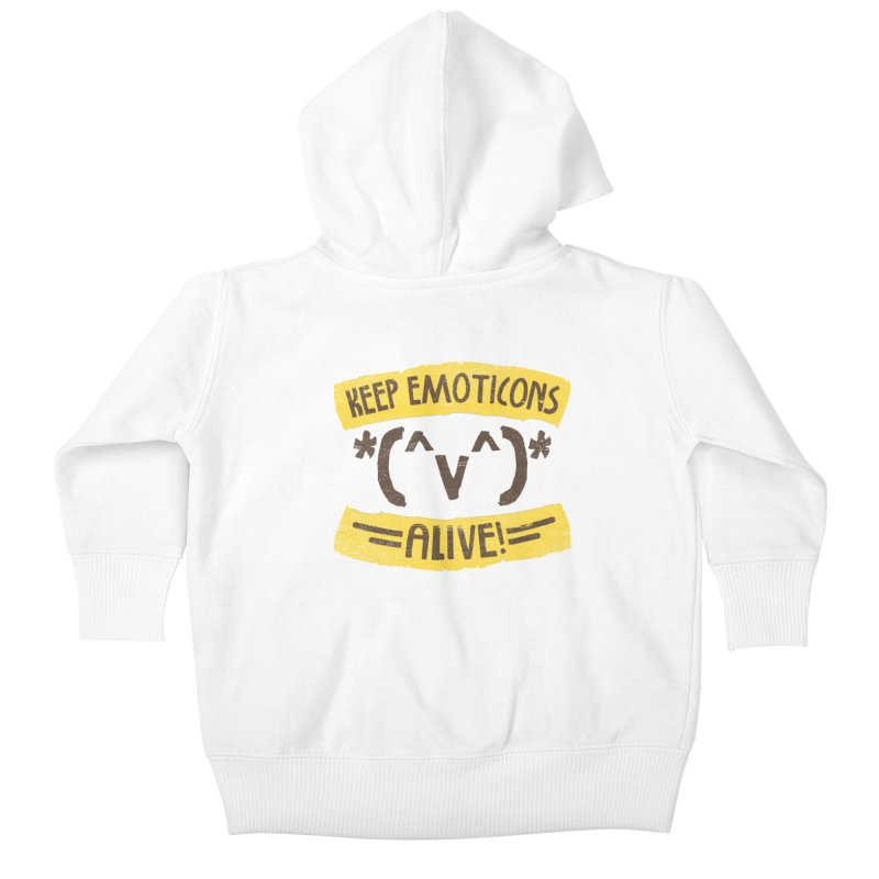 Keyboard Icons in Kids Baby Zip-Up Hoody White by Made With Awesome