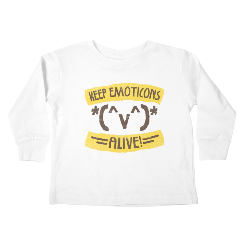 Keyboard Icons Kids Toddler Longsleeve T-Shirt by Made With Awesome