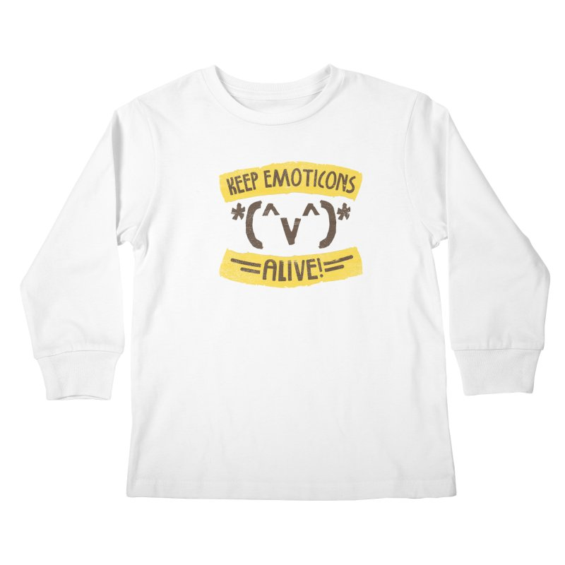 Keyboard Icons Kids Longsleeve T-Shirt by Made With Awesome