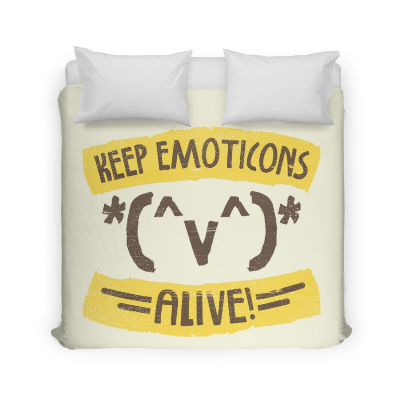 Keyboard Icons Home Duvet by Made With Awesome