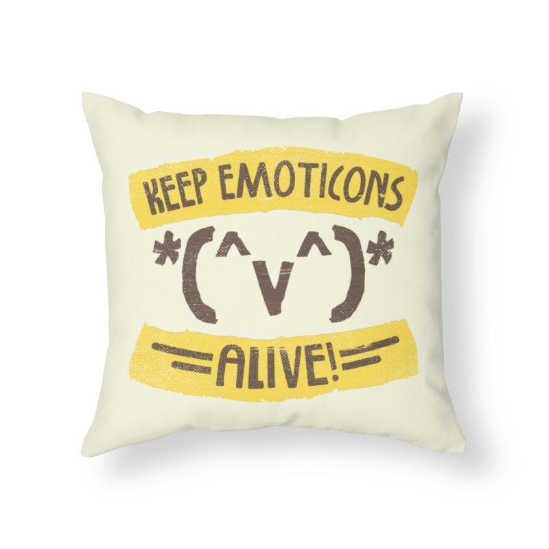 Keyboard Icons Home Throw Pillow by Made With Awesome