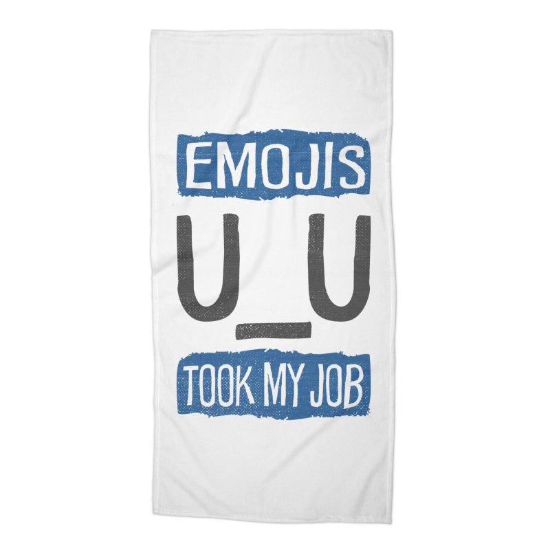 Emo Geez! Accessories Beach Towel by Made With Awesome