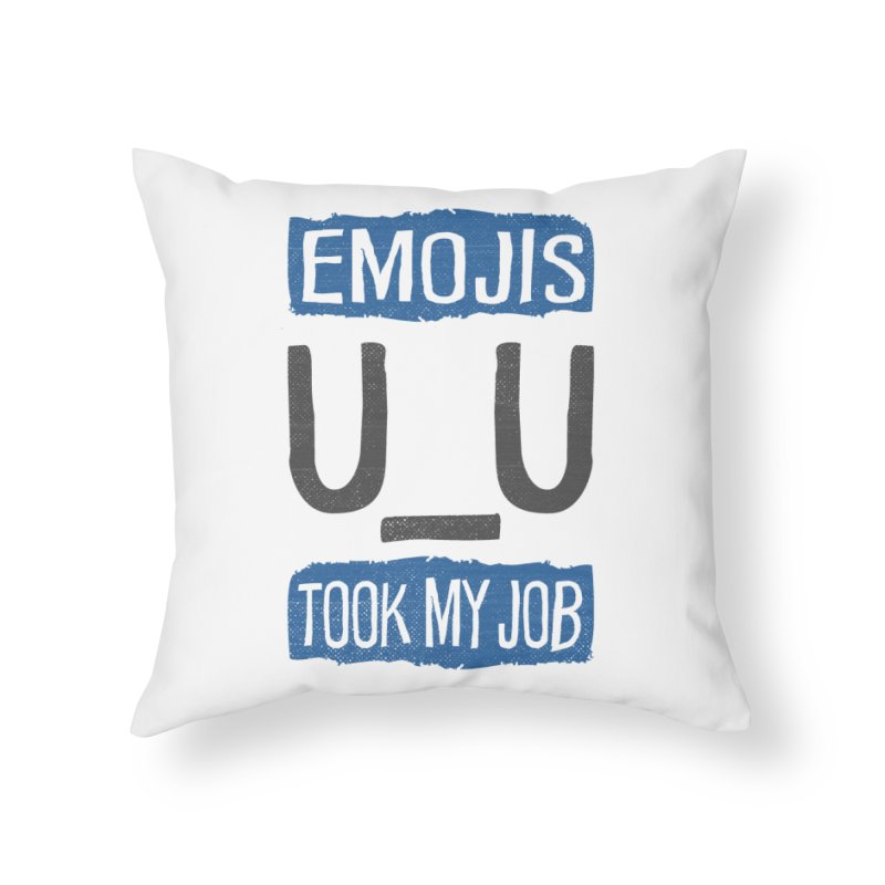 Emo Geez! Home Throw Pillow by Made With Awesome