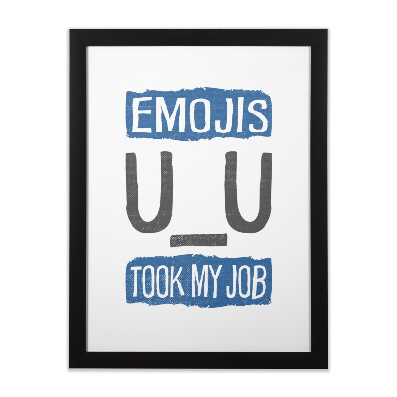 Emo Geez! Home Framed Fine Art Print by Made With Awesome