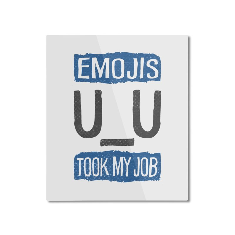 Emo Geez! Home Mounted Aluminum Print by Made With Awesome