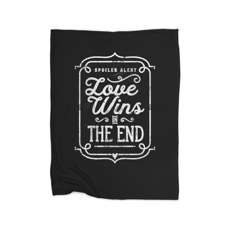 Love Wins Home Blanket by Made With Awesome