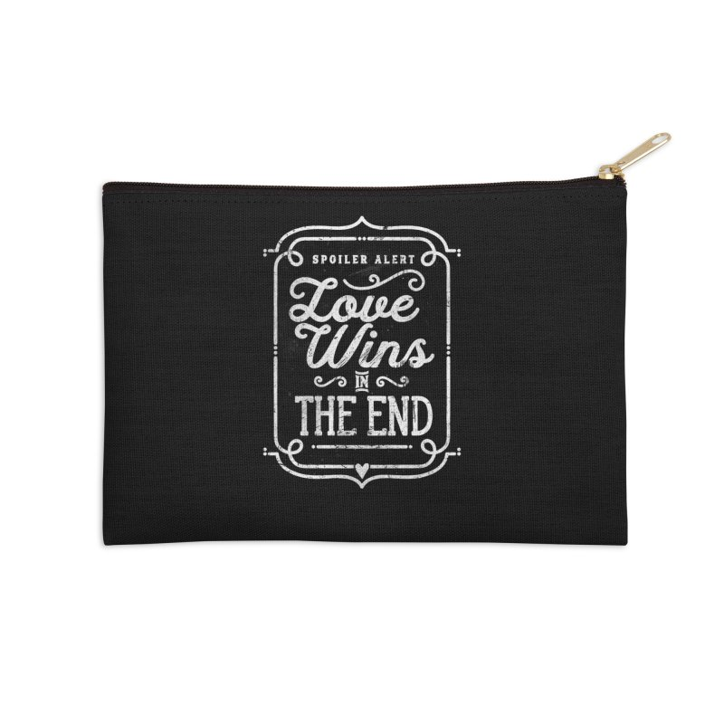 Love Wins Accessories Zip Pouch by Made With Awesome