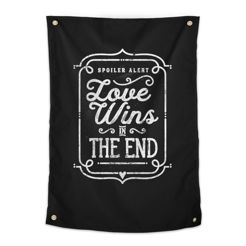 Love Wins Home Tapestry by Made With Awesome