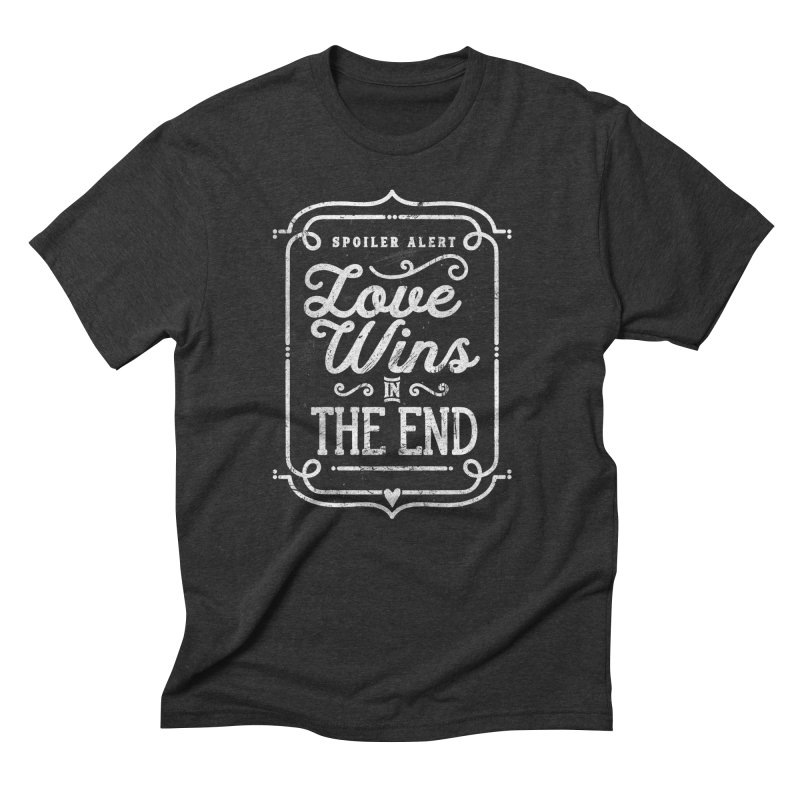 Love Wins Men's Triblend T-shirt by Made With Awesome