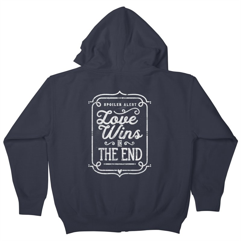 Love Wins Kids Zip-Up Hoody by Made With Awesome