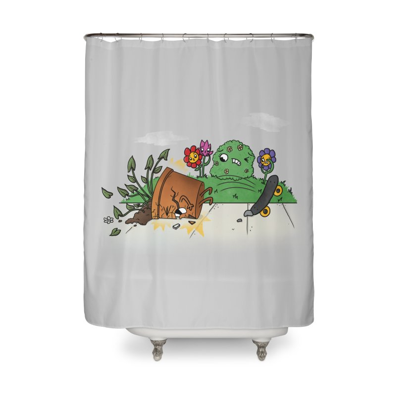 Faceplant Home Shower Curtain by Made With Awesome