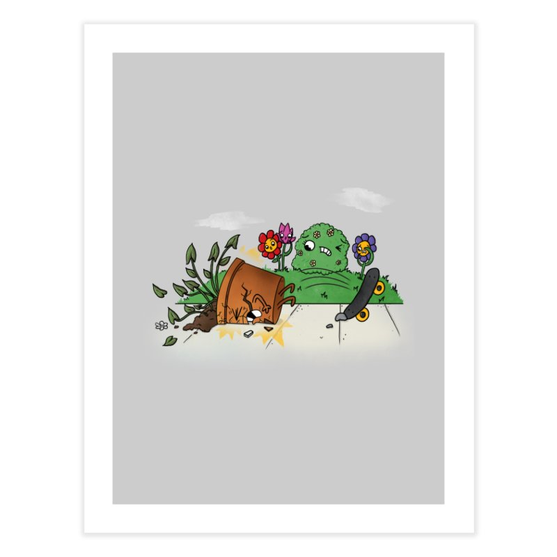 Faceplant Home Fine Art Print by Made With Awesome
