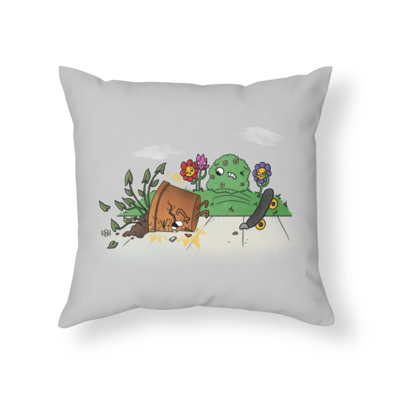 Faceplant Home Throw Pillow by Made With Awesome