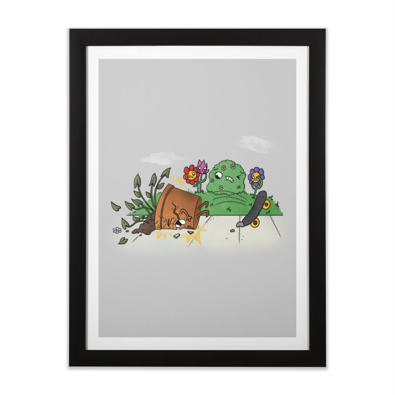 Faceplant Home Framed Fine Art Print by Made With Awesome