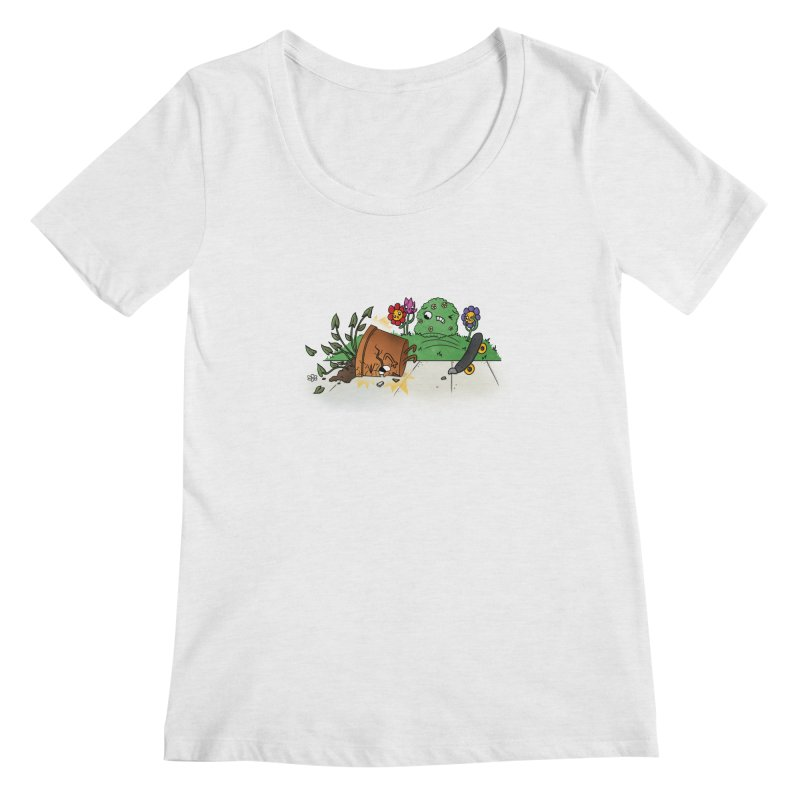 Faceplant Women's Scoopneck by Made With Awesome