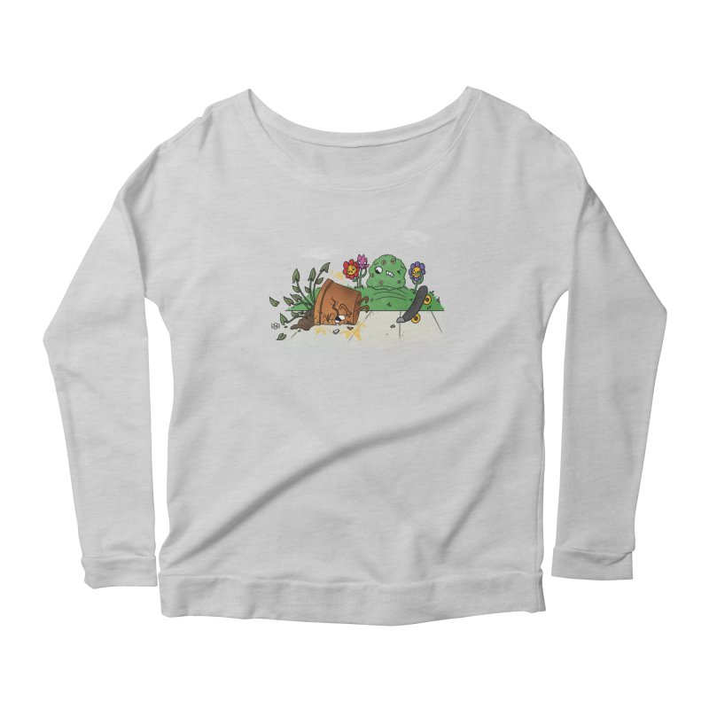 Faceplant Women's Longsleeve Scoopneck  by Made With Awesome