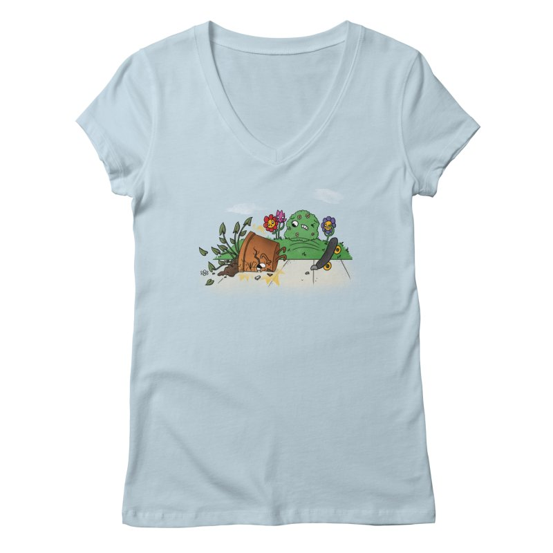 Faceplant Women's V-Neck by Made With Awesome