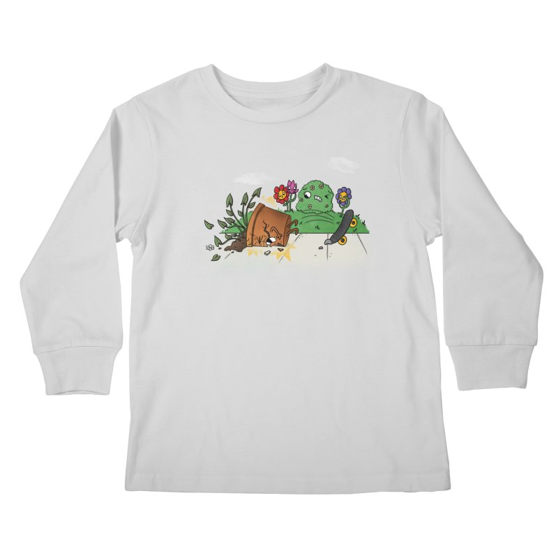 Faceplant Kids Longsleeve T-Shirt by Made With Awesome