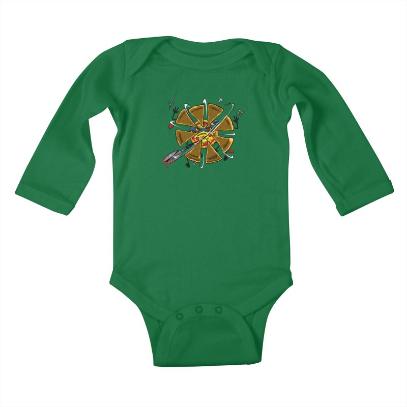 Have a Slice Kids Baby Longsleeve Bodysuit by Made With Awesome