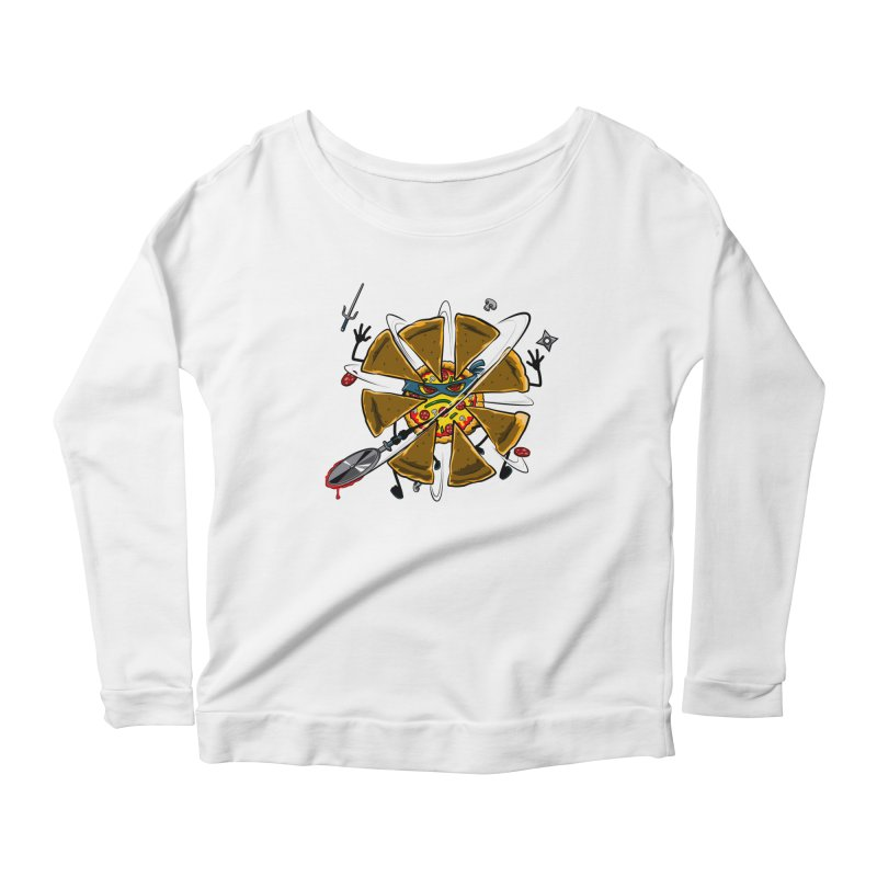 Have a Slice Women's Longsleeve Scoopneck  by Made With Awesome