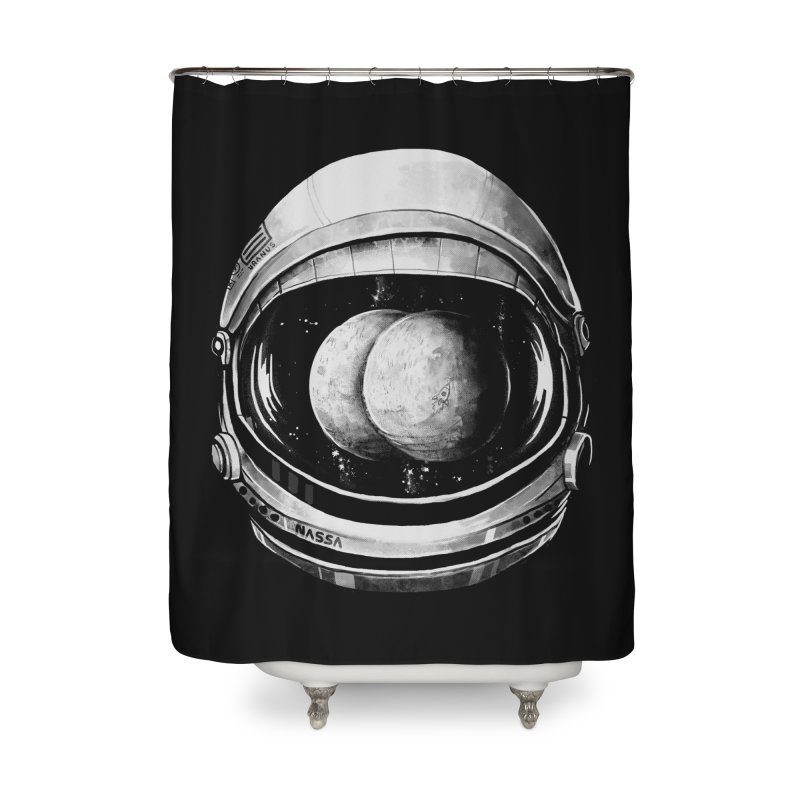 Asstronaut Home Shower Curtain by Made With Awesome