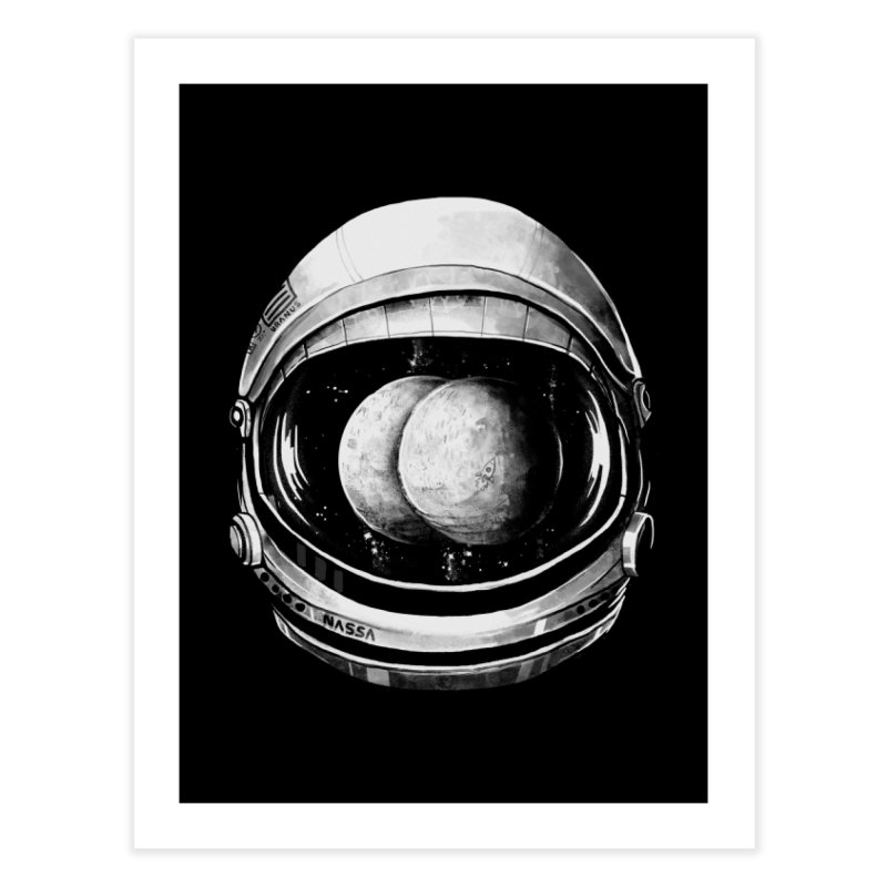 Asstronaut Home Fine Art Print by Made With Awesome
