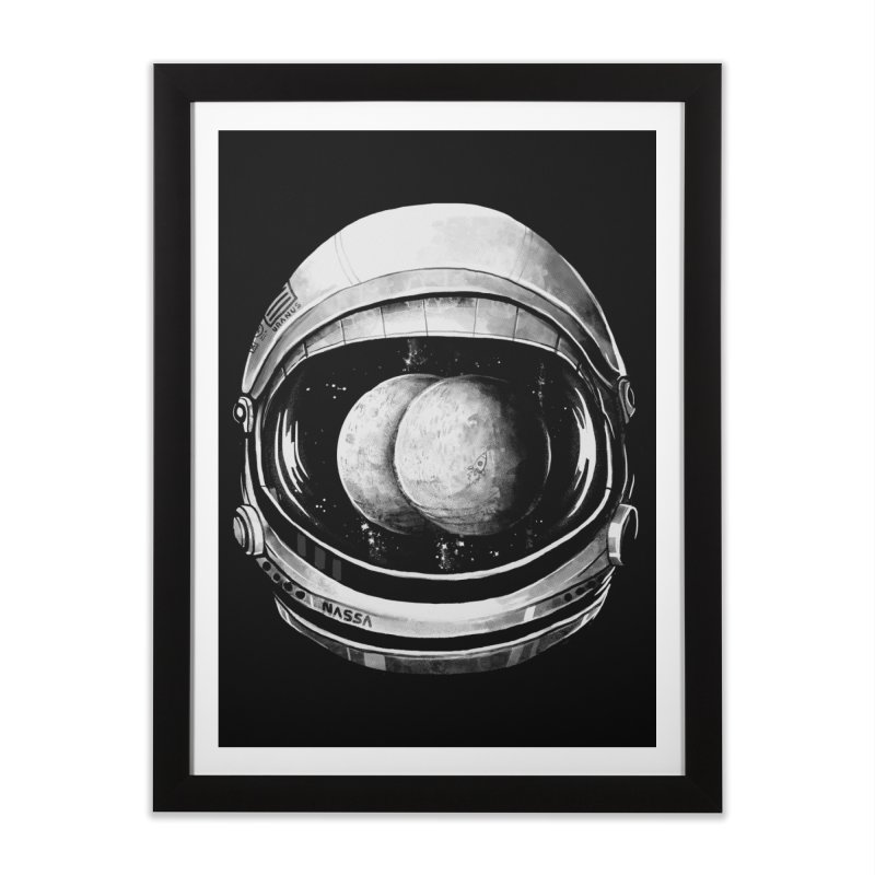 Asstronaut Home Framed Fine Art Print by Made With Awesome