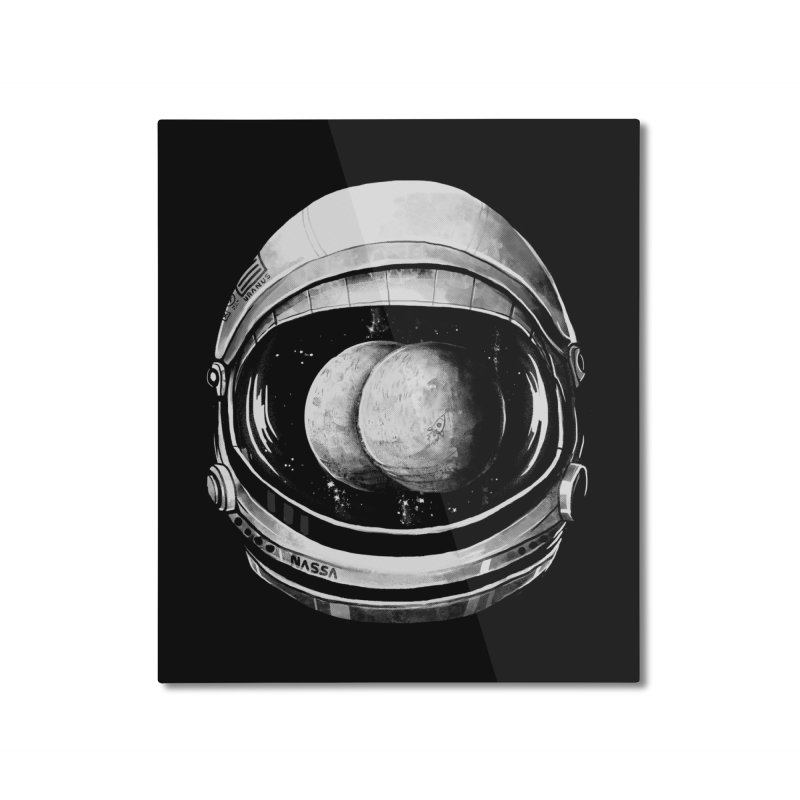 Asstronaut Home Mounted Aluminum Print by Made With Awesome