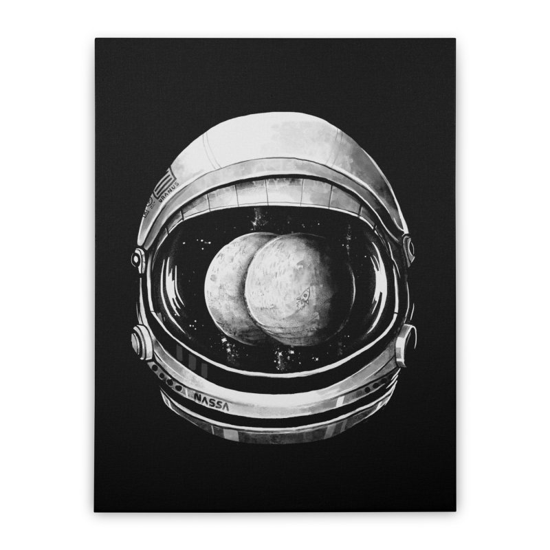 Asstronaut Home Stretched Canvas by Made With Awesome