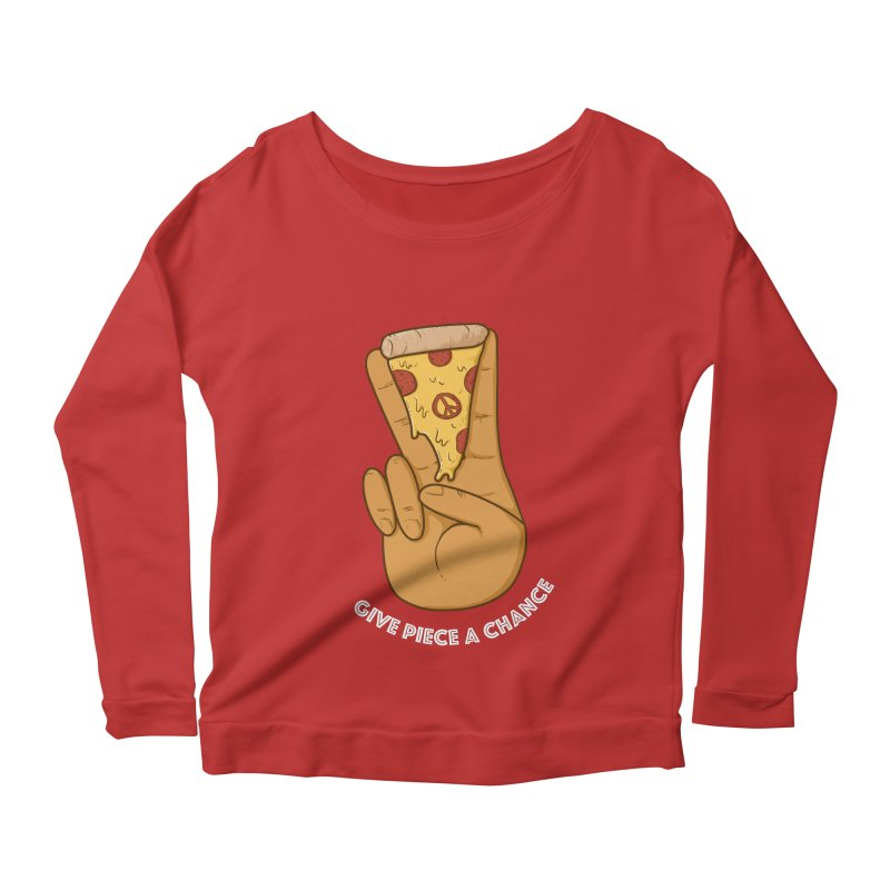 Piece Women's Longsleeve Scoopneck  by Made With Awesome