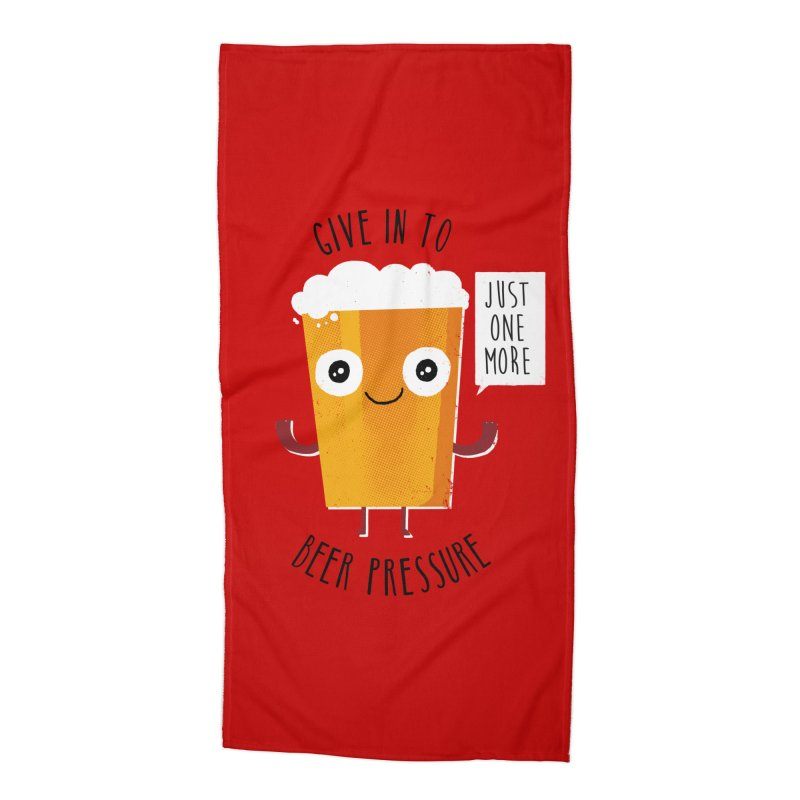 Beer Pressure Accessories Beach Towel by Made With Awesome