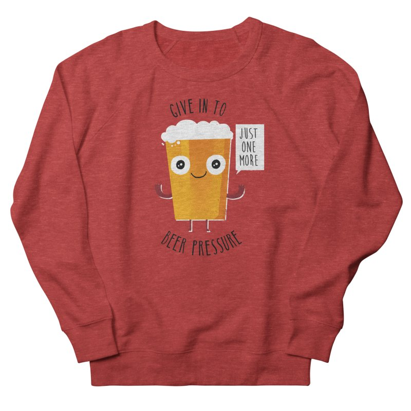 Beer Pressure in Women's Sweatshirt Heather Red by Made With Awesome