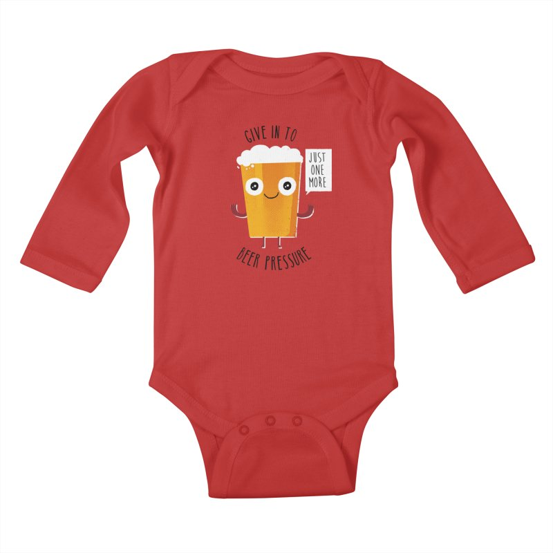 Beer Pressure Kids Baby Longsleeve Bodysuit by Made With Awesome