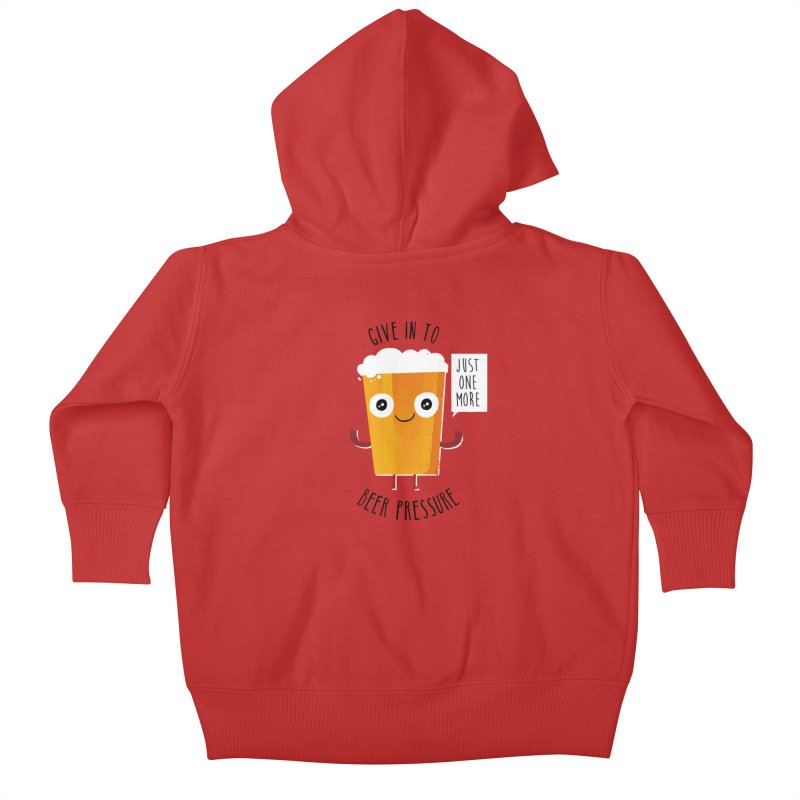 Beer Pressure Kids Baby Zip-Up Hoody by Made With Awesome