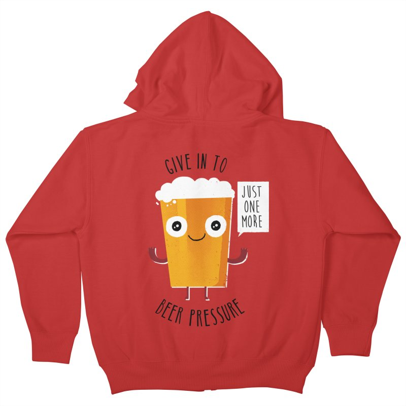 Beer Pressure Kids Zip-Up Hoody by Made With Awesome