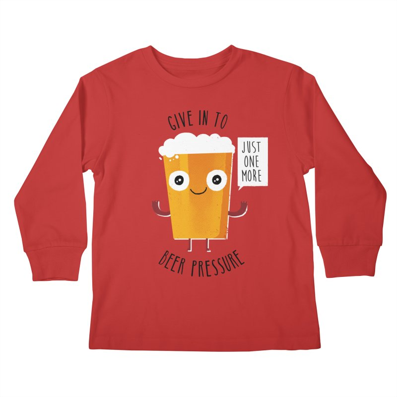 Beer Pressure Kids Longsleeve T-Shirt by Made With Awesome
