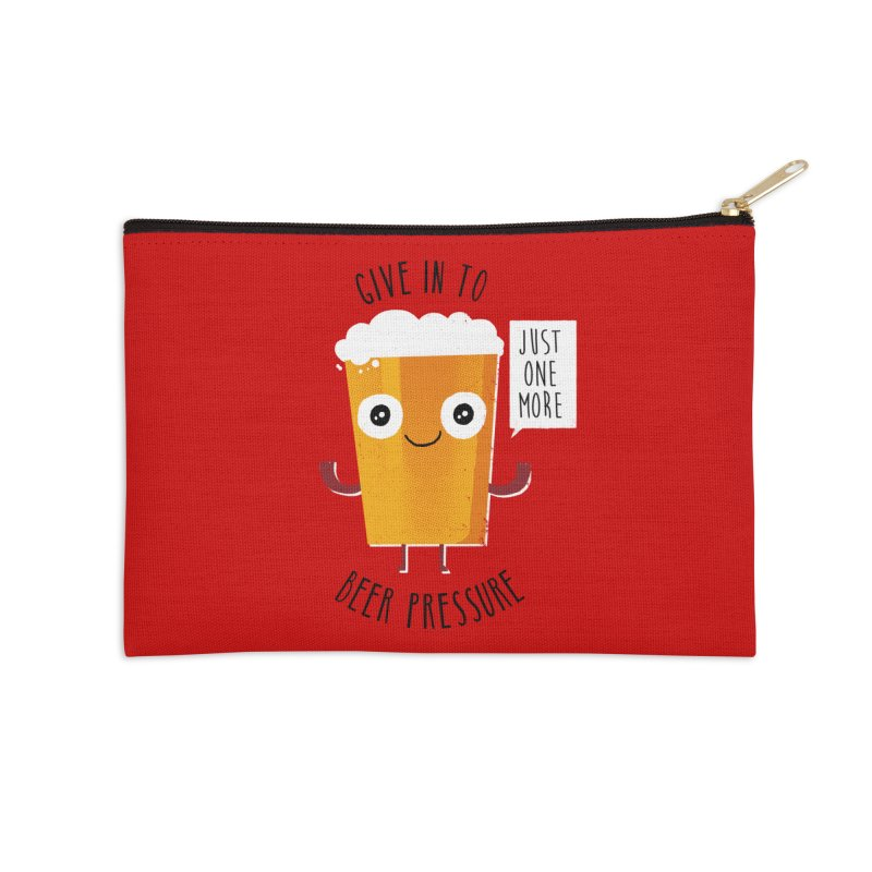 Beer Pressure Accessories Zip Pouch by Made With Awesome