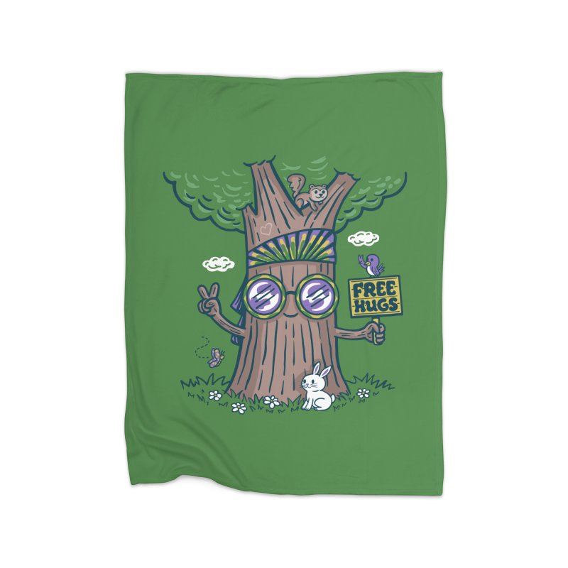 Tree Hugger in Fleece Blanket Blanket by Made With Awesome