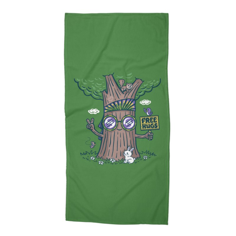 Tree Hugger Accessories Beach Towel by Made With Awesome