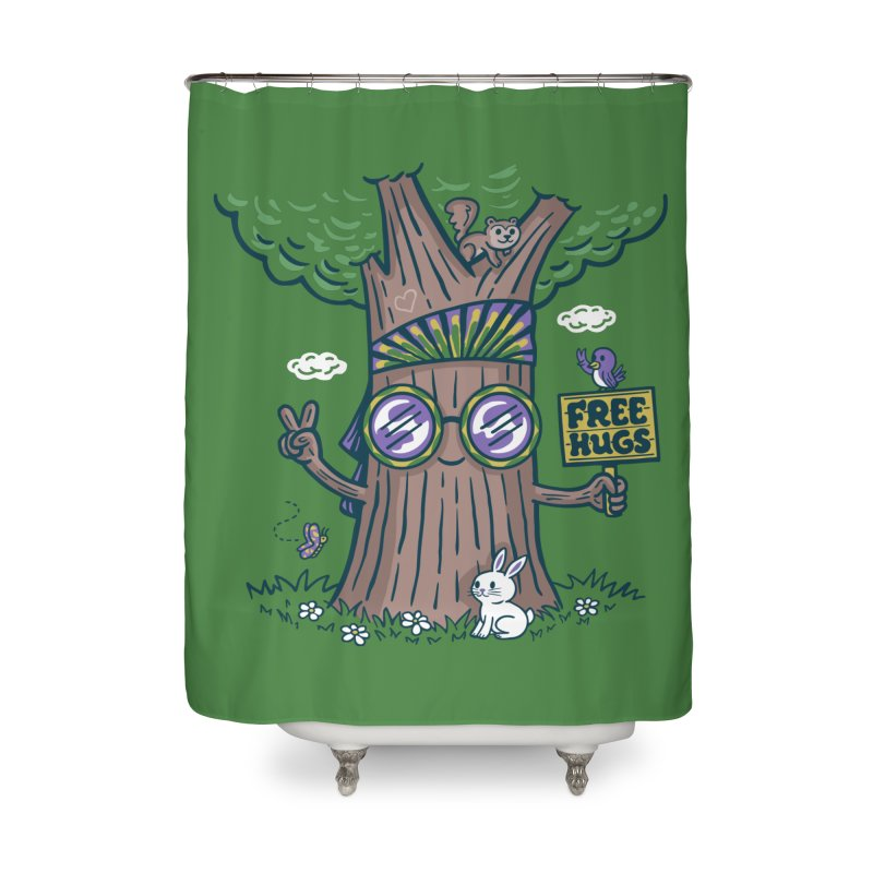 Tree Hugger Home Shower Curtain by Made With Awesome